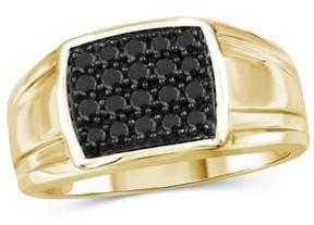 Black Diamond Jewelrsclub JewelersClub 1/2 Carat T.W. 14k Gold Over Silver Men's Ring