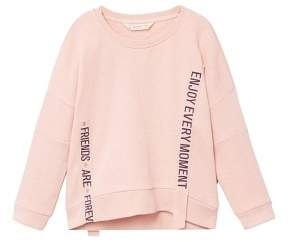 MANGO Message ribbons sweatshirt