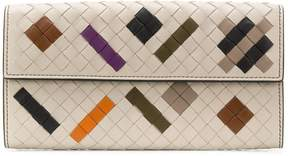Bottega Veneta colour block intrecciato wallet