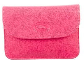 Longchamp Logo Leather Pouch - PINK - STYLE