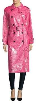 Burberry Floral Lace Trench Coat