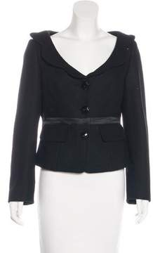 Cacharel Wool-Blend Scoop Neck Jacket
