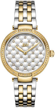 JBW 18 Diamonds At .18ctw Womens Gold Tone Bracelet Watch-J6356d