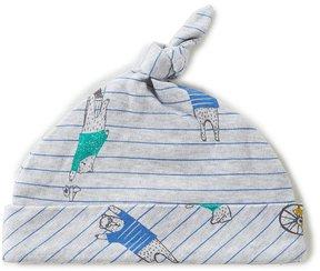 Joules Baby Boys Newborn-9 Months Bear-Print Knot Beanie Hat