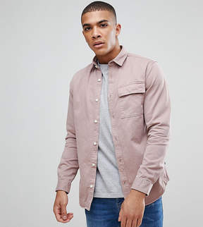 Jack and Jones Originals Overshirt In Regular Fit With Distress Detail