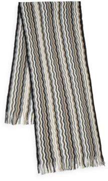 Missoni Chevron Patterned Knit Scarf