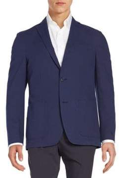 Saks Fifth Avenue BLACK Regular-Fit Cotton Blazer