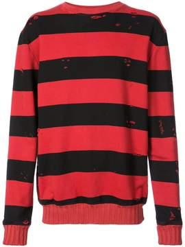 Amiri printed stripe sweatshirt