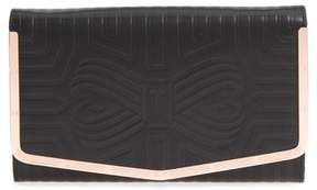 Ted Baker Jenaa Embossed Bow Leather Clutch