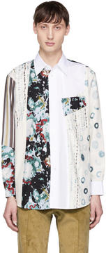 Marni White Mix Print Sport Shirt