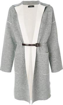 Cividini long belted cardigan