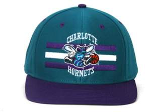 adidas NBA Charlotte Hornets Horizon Billboard Snapback Hat Cap Retro-Teal/Purple