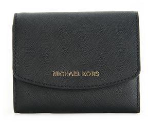 MICHAEL Michael Kors Jet Set Travel Small Trifold Wallet Black - BLACK - STYLE