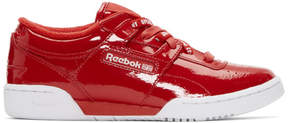 Opening Ceremony Red Reebok Edition Workout Lo Sneakers