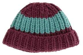 Marc Jacobs Wool Rib Knit Beanie