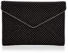Rebecca Minkoff Leo Velvet Clutch - 100% Exclusive - BLACK MULTI/SILVER - STYLE