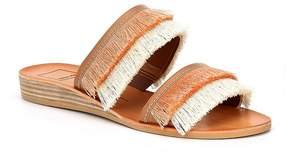 Dolce Vita Haya Banded Fringe Wedge Sandals