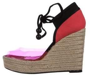 Sonia Rykiel PVC Espadrille Wedge Sandals