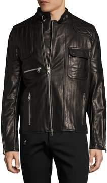 Diesel Black Gold Men's Lunt Leather Jacket