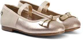 Mayoral Gold Sparkle Ballet Pumps with Bow