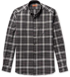Missoni Button-Down Collar Checked Textured-Cotton Shirt