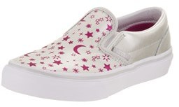 Vans Kids Classic Slip-on (star Glitter) Skate Shoe.