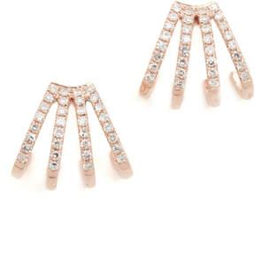 Ef Collection 14k Gold Multi Diamond Huggie Earrings