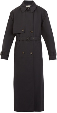 Martine Rose Double-breasted gabardine trench coat