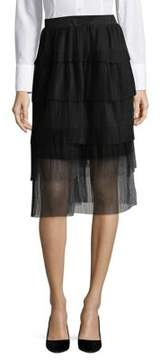 Ark & Co Mesh Pleated Skirt