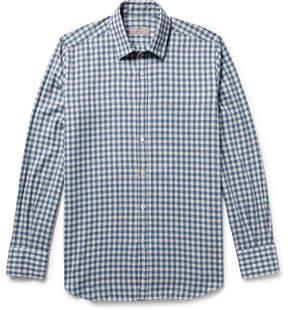 Canali Checked Cotton-Twill Shirt