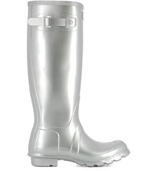 Hunter Silver Rubber Boots
