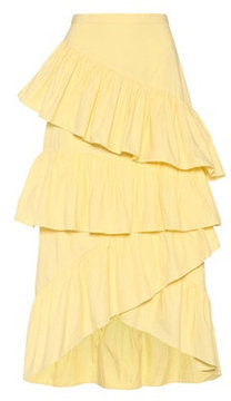 Edit Ruffled cotton skirt