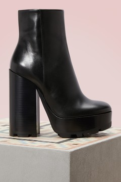 Jil Sander Leather high heels ankle boots