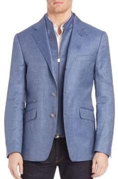 Corneliani Button-Front Wool-Blend Sportcoat