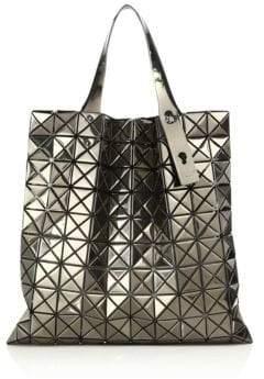 Bao Bao Issey Miyake Platinum Metallic Faux Leather Tote