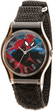 Marvel Spiderman Boys Black Strap Watch-Wma000226