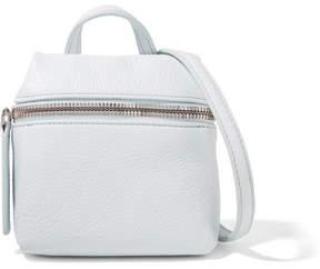 KARA - Micro Textured-leather Shoulder Bag - Sky blue
