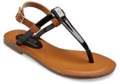 Ralph Lauren Kid's Gala Patent T-Strap Sandals