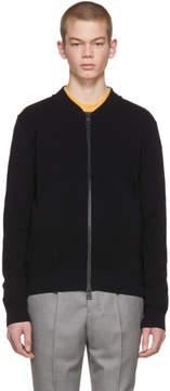 Ami Alexandre Mattiussi Black Knit Zipped Bomber Jacket