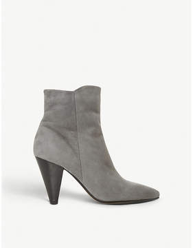 Dune Odell suede cone-heel ankle boots
