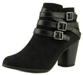 Material Girl Womens Minah Suede Round Toe Ankle Fashion Boots.