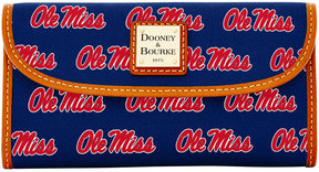 Dooney & Bourke Mississippi Rebels Large Continental Clutch - NAVY - STYLE