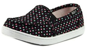 Roxy Lido Iii Toddler Round Toe Canvas Multi Color Loafer.