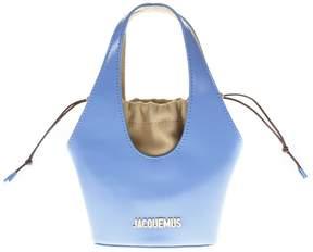 Jacquemus Light Blue Leather Handbag
