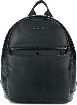 Emporio Armani snake effect backpack