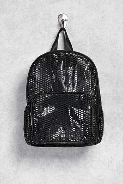 Forever 21 Clear Mesh Backpack