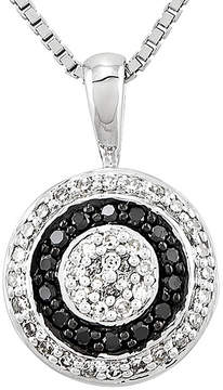 Black Diamond FINE JEWELRY 1/3 CT. T.W. White and Color-Enhanced Circle Pendant Necklace
