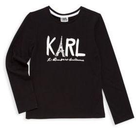 Karl Lagerfeld Toddler's, Little Girl's & Girl's Eiffel Tower Tee