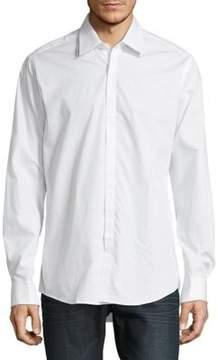 Pal Zileri Solid Button Front Sportshirt