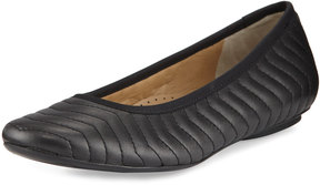 Neiman Marcus Shanna Quilted Leather Flat, Black